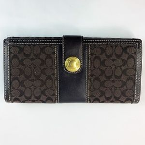 Coach Signature Brown/Mahogany Slim Wallet